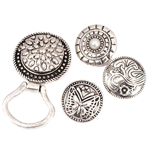 (BMC Interchangeable Snap Centerpiece Eye Glass Holding Magnetic Brooch - Set)