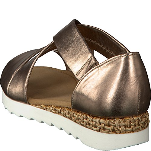 Gabor Vrouwen Comfortabele Strappy Sandals Sport, Blauw Brons
