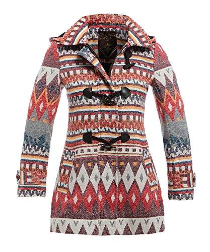 SS7 femmes douce manteau laine FEMMES TRANSPORT imprim
