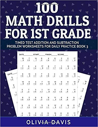 100 Math Drills For 1st Grade Timed Test Addition And