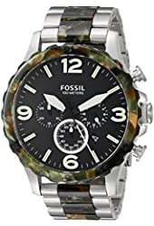 Fossil Men's JR1498 Nate Chronograph Stainless Steel and Acetate Watch - Two-Tone