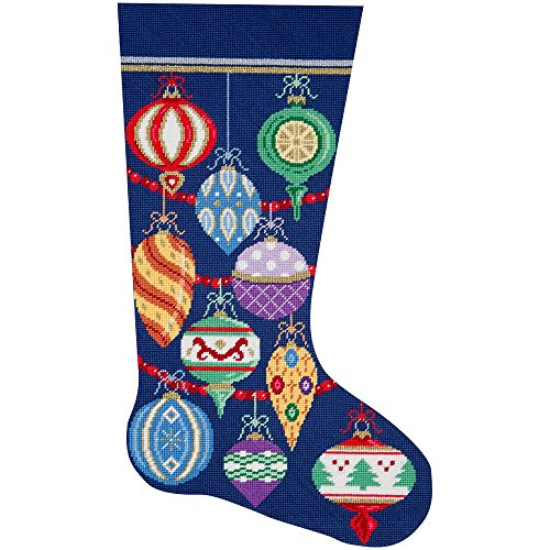 - Alice Peterson Home Creations Holiday Edition Needlepoint Stocking Kit-- Elegant Ornaments- Large, Deluxe Size