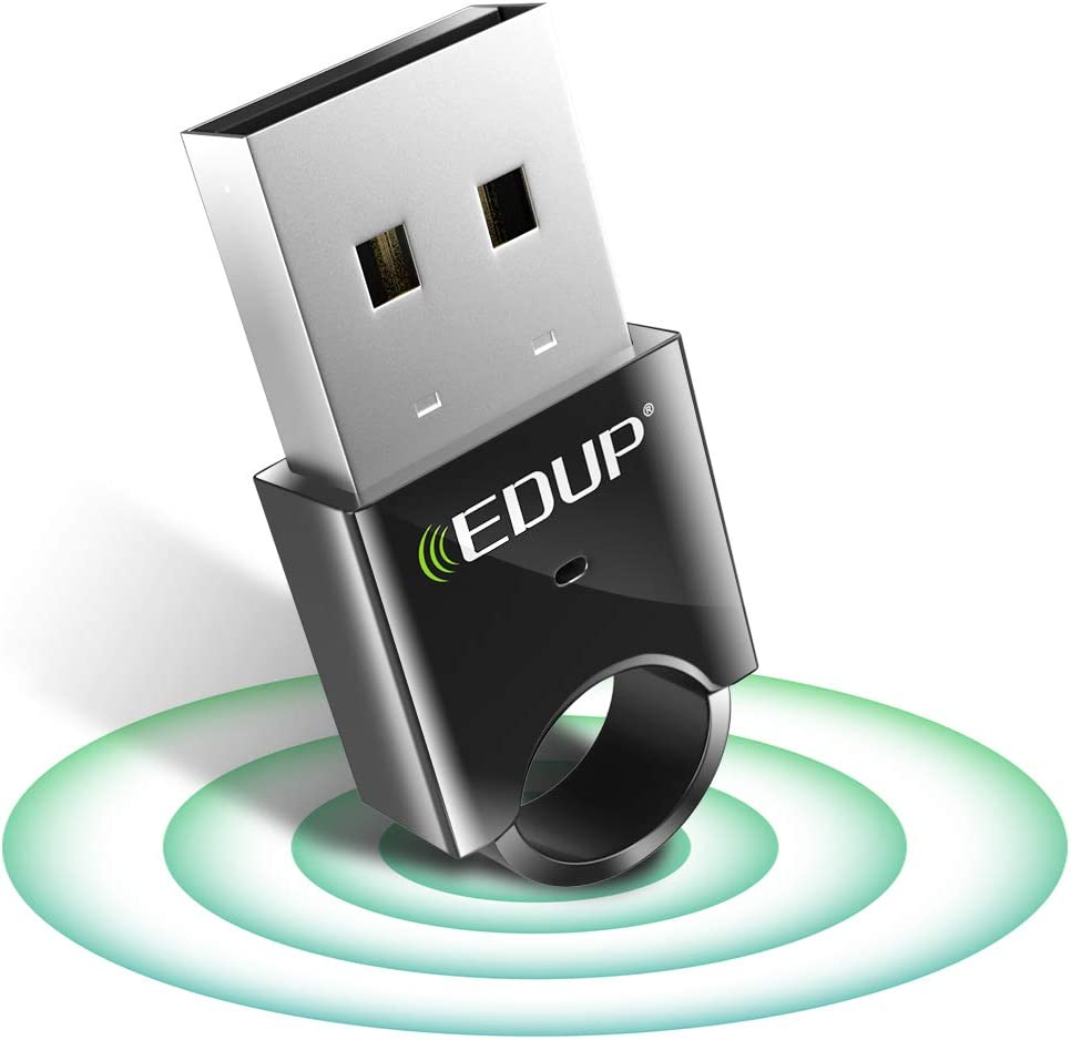 USB Bluetooth Adapter for PC - EDUP USB Bluetooth 4.0 Dongle EDR Wireless Receiver for Laptop Computer Desktop with Windows 10 8.1 8 7 XP Vista - Work for Bluetooth Speakers Headphones Mouses Printers