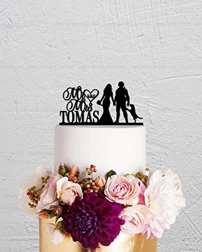 (Wedding Cake Topper,Soldier Cake Topper,Military Man And Bride Cake Topper, Mr And Mrs Cake Topper,Custom Cake Topper, Unique Cake Topper)