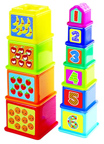 (PlayGo Kids Animal Stick & Stack Blocks Toy Eco-Friendly & Non-Toxic Early Childhood Development Toys for Fine Motor Skills Just Perfect for Your Little One 12 Months & Older)