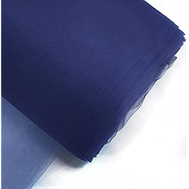 Craft and Party, 54  by 40 yards (120 ft) fabric tulle bolt for wedding and decoration (Navy Blue)