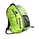 Tofern High Visibility High Viz Waterproof 3M Scotchlite reflective safety Backpack Rucksack Bag Rain Cover for hiking cycling Fits Backpacks Up To 40L