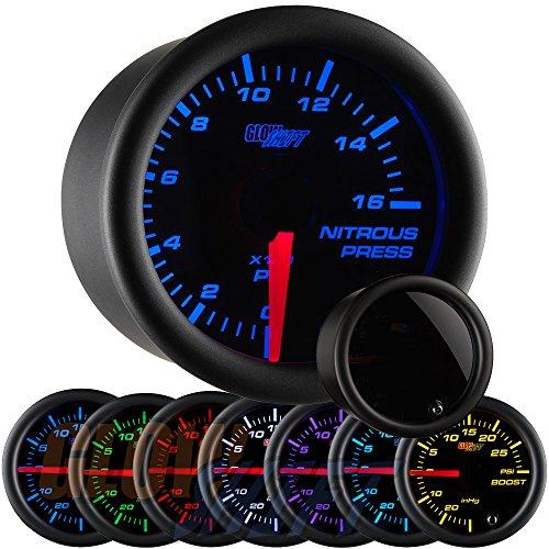 GlowShift Tinted 7 Color Nitrous Pressure Gauge