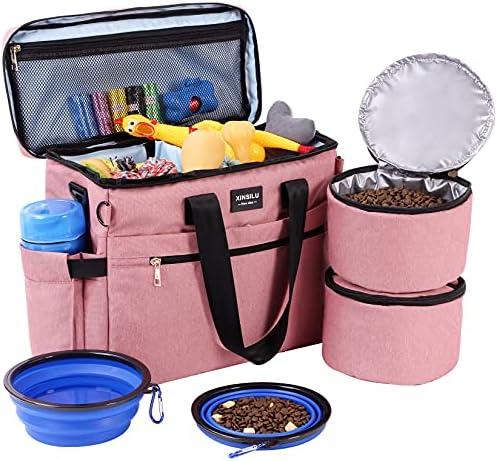 Dog Travel Bag, Xinsilu Organizer Bag for Pet...