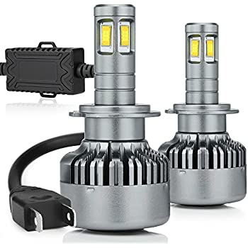 Zdatt 14400LM 4-sides Super Bright H7 Led Headlight Bulb 6000k Fog Light Conversion Kits Replacement Car Truck Driving Lamp - 2 Yr Warranty