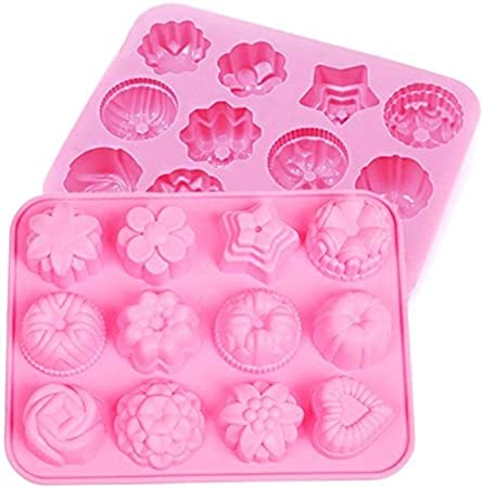 Astounding Lcjtaifu Flower Chocolate Candy Cake Mold Silicone Flowers Baking Funny Birthday Cards Online Barepcheapnameinfo