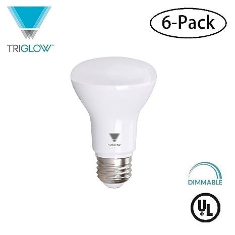 triglow t99025 6 6 pack led 7 watt 50w equivalent br20 light