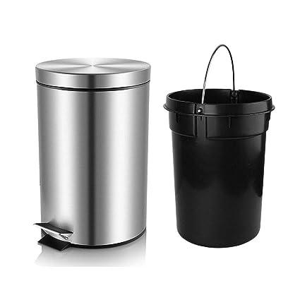 Amazoncom Hlux Bathroom Trash Can With Lid Soft Close Round Mini