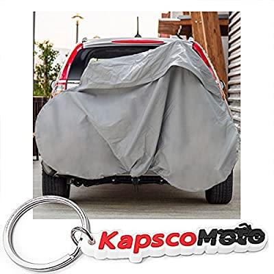 Deluxe Bike Rack Cover Hitch Mounted SUV Truck RV Hanging Racks up to 3 Bicycles + KapscoMoto Keychain