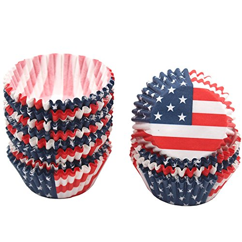 Price comparison product image Zicome 300 Count Patriotic Cupcake Paper Liners