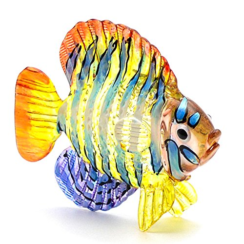Zoo Craft Hand Blown Glass Figurine Angel Fish Handmade Miniature Animal Art