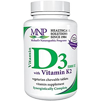 Michaels Naturopathic Progams Vitamin D3 5000 IU with Vitamin K2 Tablets, 90 Count