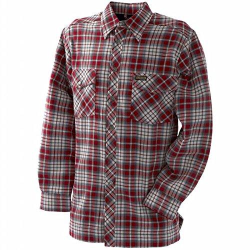 Blakläder Flanellhemd mit Fleecefutter, 1 Stück, XL, rot / grau, 329011305694XL