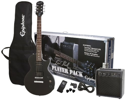 Les Paul Special Electric Guitar (Epiphone Les Paul Electric Guitar Player Package, Ebony)