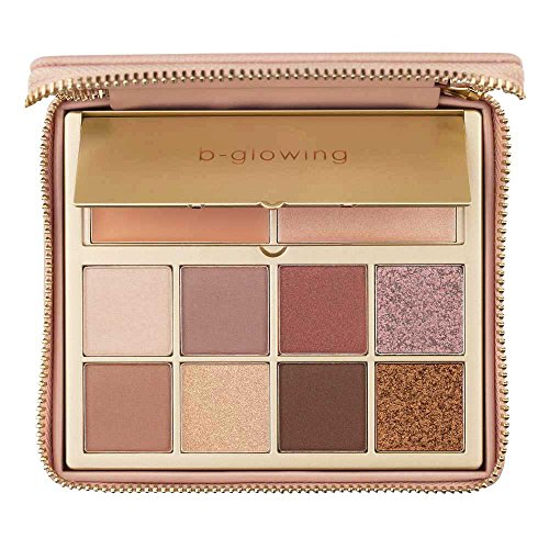 b-glowing Enhance + Glow Eyeshadow Palette 8 Matte and Shimmer Colors + Brightening Eye Shadow Primer and Highlighter, Makeup for Mature Women, Neutral Eye Shadows for Brown, Blue and Green Eyes