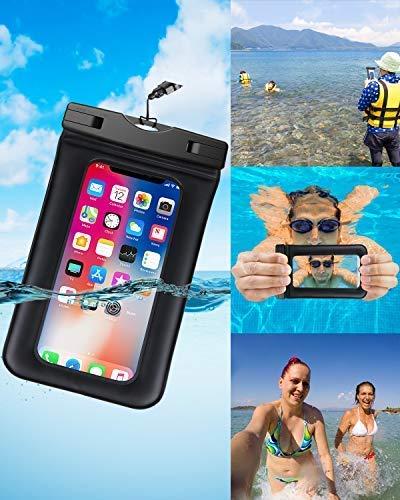 Jusqu/à 6.0-Noir Huawei Henison Pochette T/él/éphone /Étanche Housse Coque /Étanche Universal avec Transparent Touch Sensible pour iPhone X 8 7 6 Plus Certifi/ée IPX8 Samsung Galaxy