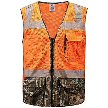 ac62fef417dfe 360 USA ANSI ISEA Class 2 Compliant Mossy Oak Camo High Visibility Safety  Vest XL