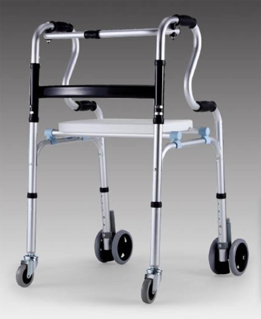 シンプルな移動便座の椅子、Natood 折りたたみ Toelit スツール高齢者の妊婦のための椅子に座って、63 * 60 * 95cm B07DL3XS26