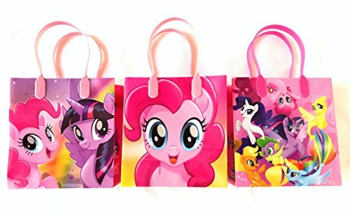 My Little Pony Character 12 Premium Quality Party Favor Reusable Goodie Small Gift Bags -