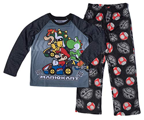 AME Sleepwear Super Mario Boys Fleece Pajama Set,Gray,Medium / 8]()