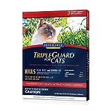 PetBalance TripleGuard Flea & Tick Drops for Cats - over 1.5 lbs - 3 Month Supply