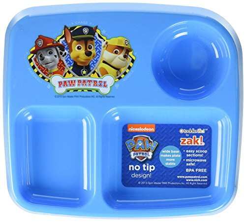 Zak Designs Toddlerific 7-inch Divided Plate, Paw Patrol