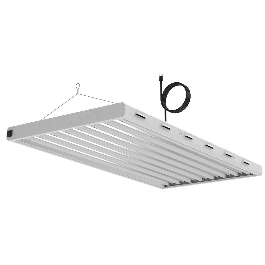 VIVOSUN 4ft 8 Lamp T5 HO Fluorescent Grow Light Fixture - UL listed, High Output Fluorescent Tubes