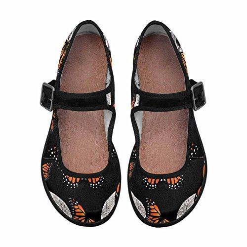 Interestprint Mujeres Comfort Mary Jane Flats Zapatos Casual Para Caminar Multi 13