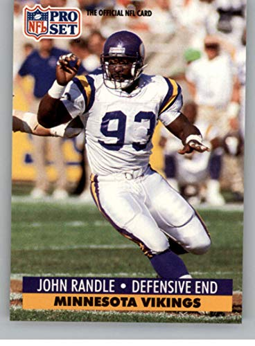 1991 Pro Set Football Card #835 John Randle RC Rookie Card Minnesota Vikings Official NFL Trading Card