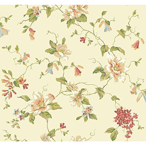 York Wallcoverings Blooms AK7451 Floral Trail Wallpaper, -