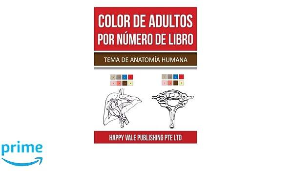 Amazon.com: Color De Adultos Por Número De Libro: Tema De Anatomía ...