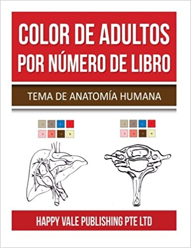 Amazoncom Color De Adultos Por Número De Libro Tema De Anatomía