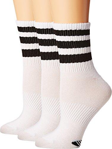Crew Tennis Socks Adidas (adidas Women's Originals Superlite Quarter Socks (3-Pack), White/Black, Medium)