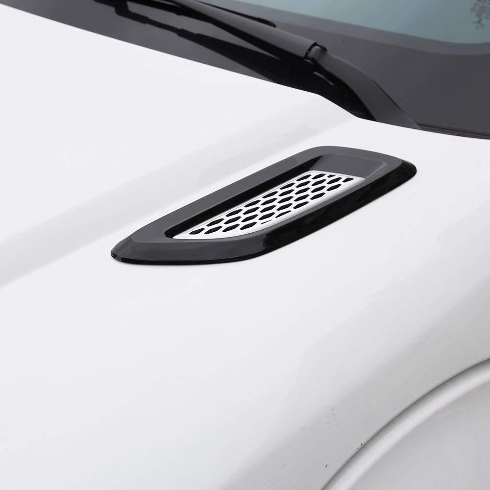 volles glattes Schwarz DIYUCAR 2 x For Discovery 4 Freelander 2 RR Evoque ABS Schwarz Silber Lamellen-Bel/üftungs/öffnungs-Auslass-Abdeckungs-Ordnung