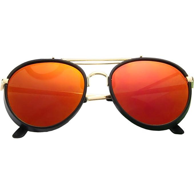 ONMet Kid Sunglasses Aviator Polarized UV Protection Baby 2018 New Fashion Eyewear 4-10 Year (Orange)