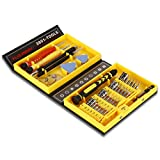 Floureon 38-in-1 Precision Screwdriver Set Repair Tool Kit for iPad, iPhone 6S Plus 6 5S 5, Smartphone, Watches, Televisions,Laptops, Tablet, PC, Computer Electronic Devices