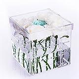 Acrylic Flower Box Water Holder Handmade Vase Decorative Sqaure Flower Pot Transparent Choice Fun QFJJSN-NCF-001-1