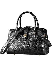 Top Handle Handbags and Purses For Women Crocodile Satchel Bags