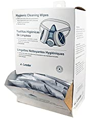 C-Clear 31 Pre-Moistened Respirator Alcohol Free Hygienic Cleaning Wipe Dispenser (Pack of 100)
