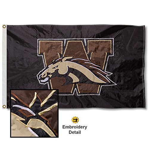 Michigan College Applique - Western Michigan University Embroidered and Stitched Nylon Flag
