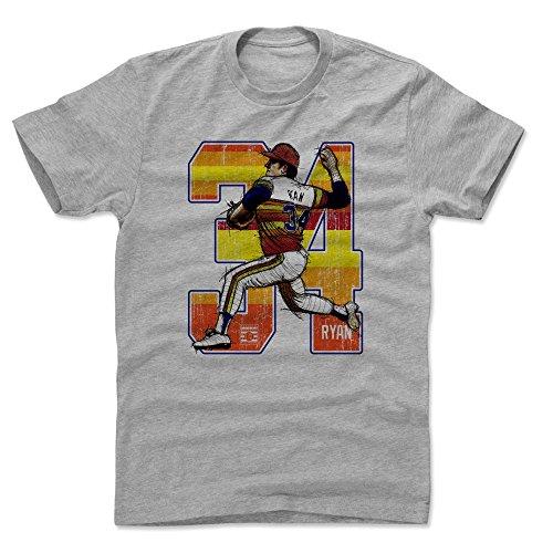 500 LEVEL Nolan Ryan Cotton Shirt (X-Large, Heather Gray) - Houston Astros Men's Apparel - Nolan Ryan Heat O