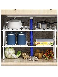Storage Under Kitchen Sink Shop amazonunder sink organizers amzz 2 tier adjustable under workwithnaturefo