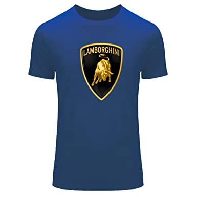 logo shirt t lamborghini com a black dp on clothing in gold amazon