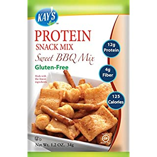 Kay's Naturals Protein Snack Mix, Sweet BBQ, Gluten-Free, Low Fat, Diabetes Friendly, All Natural Flavorings, 1.2 Ounce (Pack of 6)