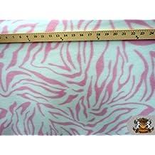 Fleece Fabric Printed Animal Print *Pink Zebra* fabric By the Yard